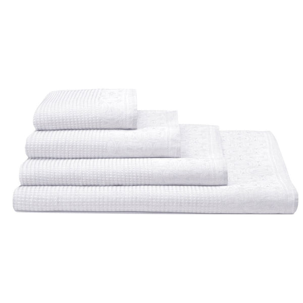 Lula White Linen Bath Towels by Le Jacquard Français | Fig Linens