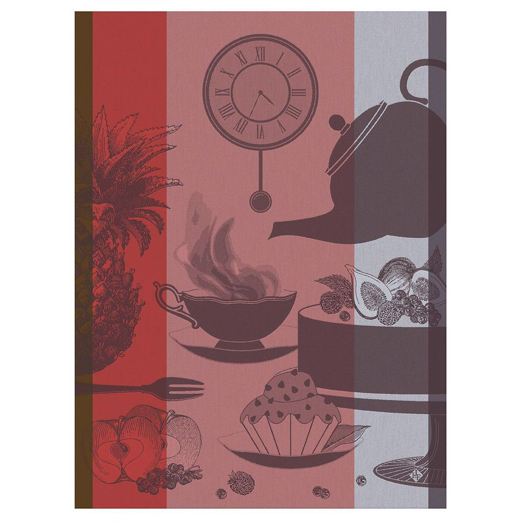 Fig Linens -Instand Gourmand Thé Taupe Tea Towels by Le Jacquard Français