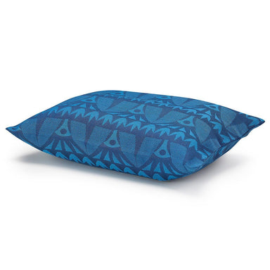 Holi Sapphire Outdoor Pillow by Le Jacquard Français | Fig Linens