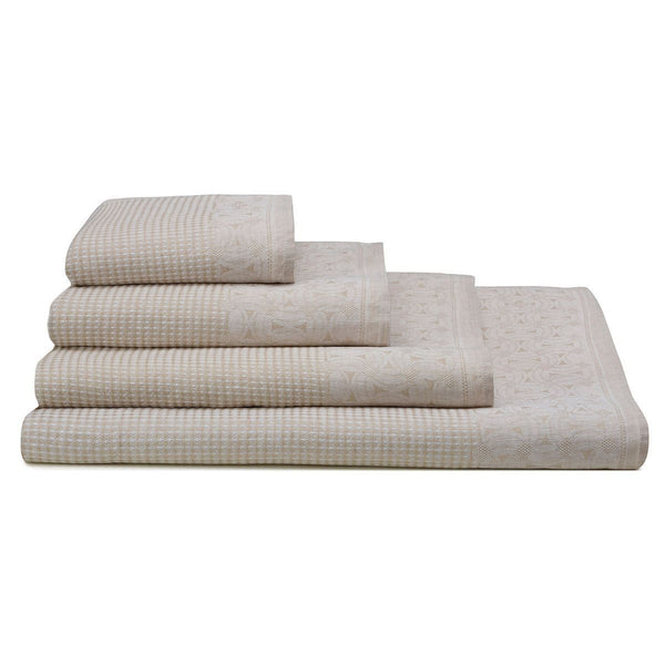 Lula Sand Linen Bath Towels by Le Jacquard Français | Fig Linens