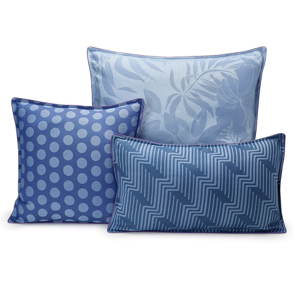 Fig Linens - Nature Urbaine Electric Outdoor Pillows by Le Jacquard Français