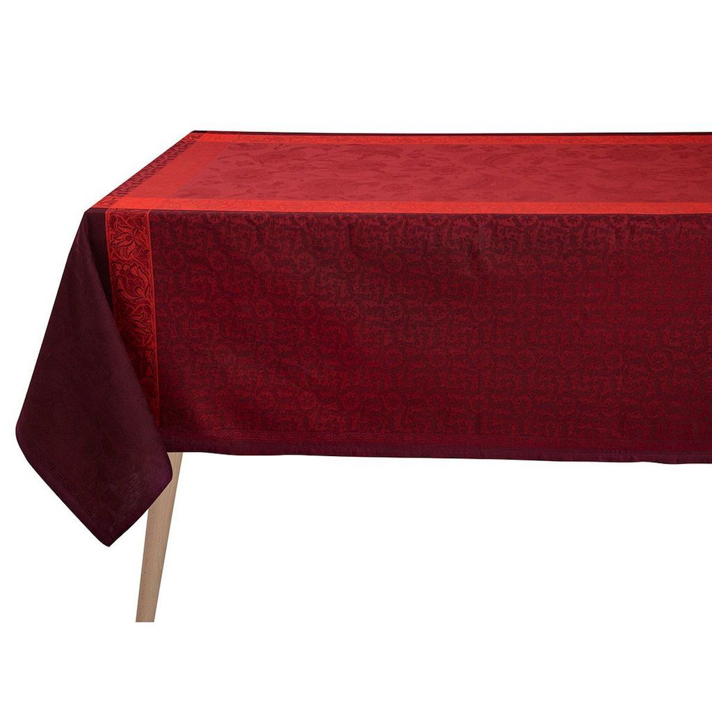 Ottomane Burgundy Tablecloth by Le Jacquard Français | Fig Linens