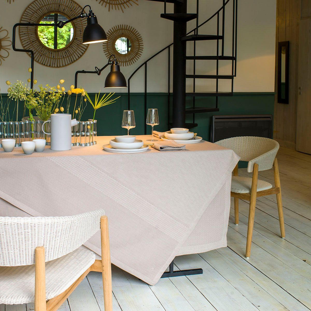 Slow Life Sesame Table Linens by Le Jacquard Français | Fig Linens
