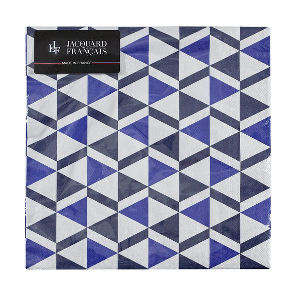 Set of 20 - Bistronome Blue Paper Napkins by Le Jacquard Français | Fig Linens