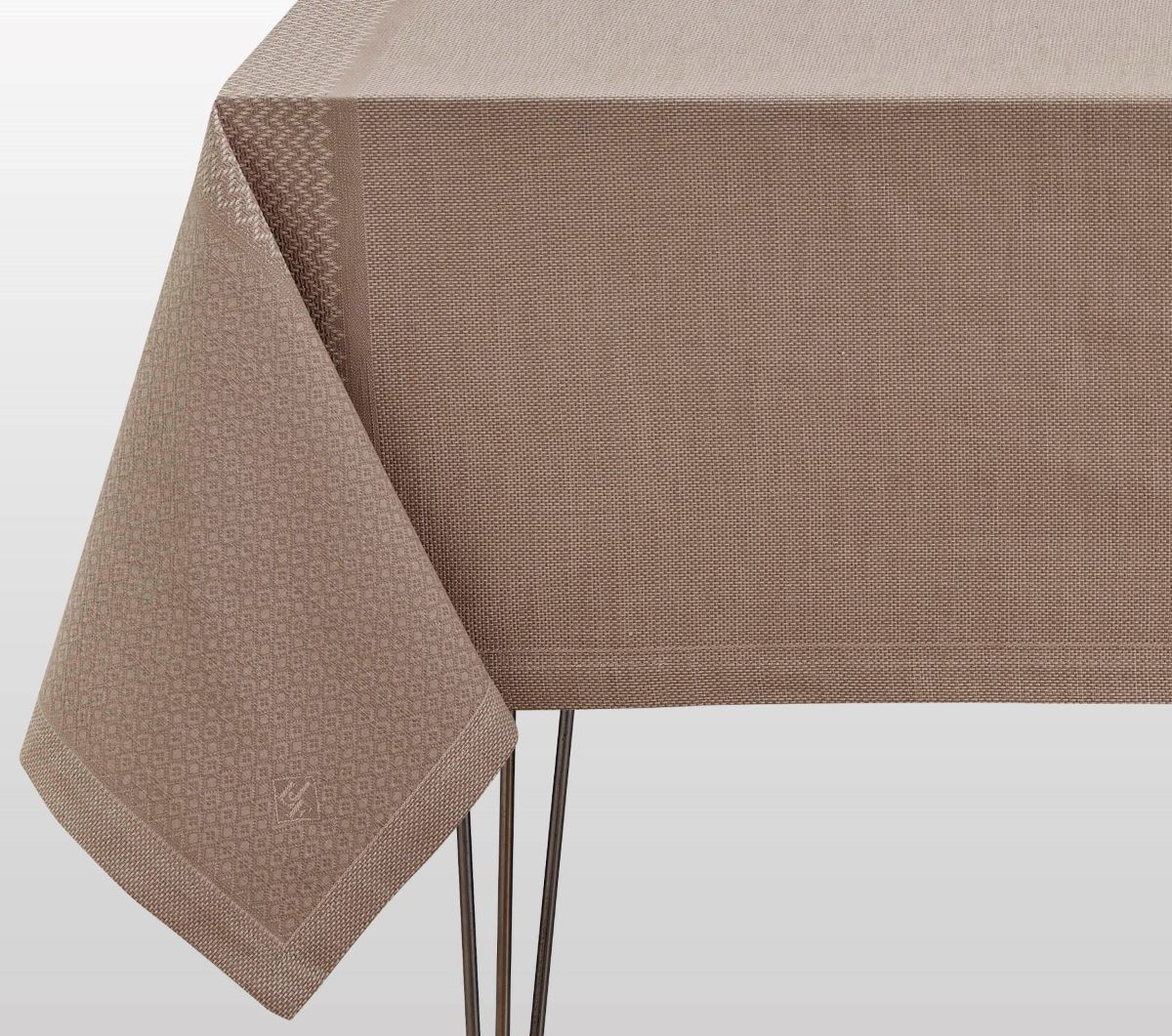 Fig Linens - Le Jacquard Francais Slow Life Sesame Tablecloth