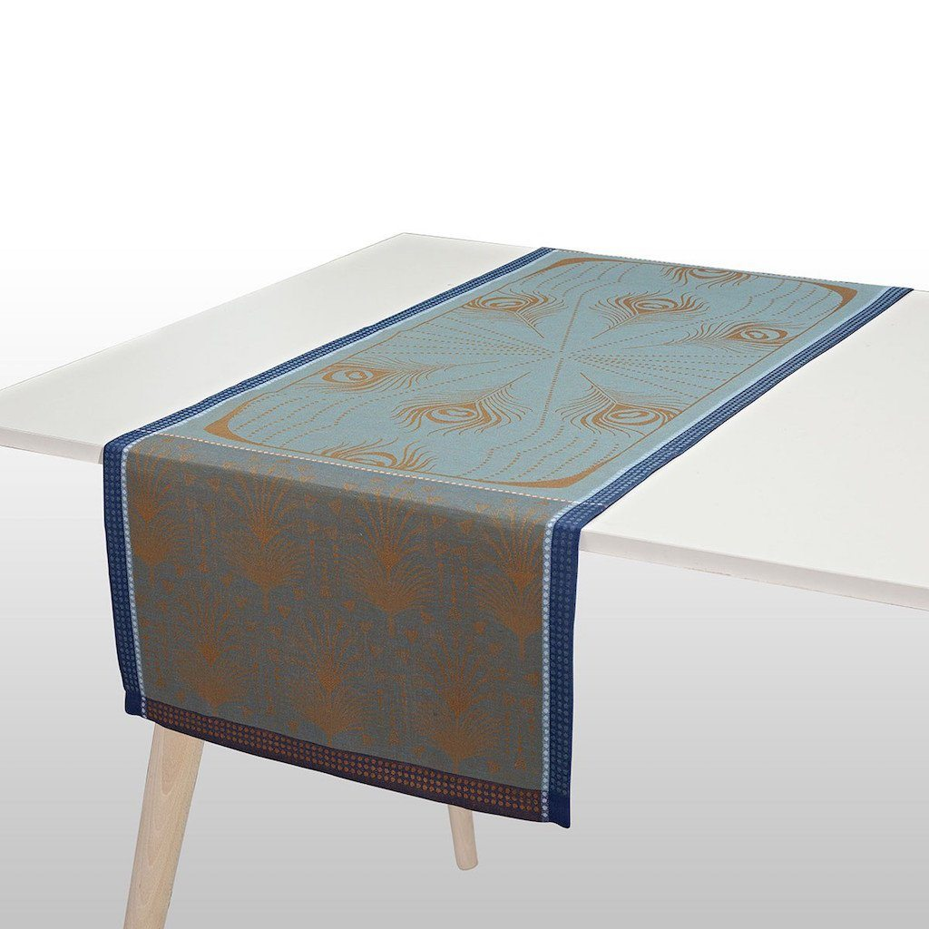 Fig Linens - Le Jacquard Francais - Cabaret Peacock Table Runner