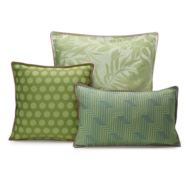Fig Linens - Nature Urbaine Green Outdoor Pillows by Le Jacquard Français