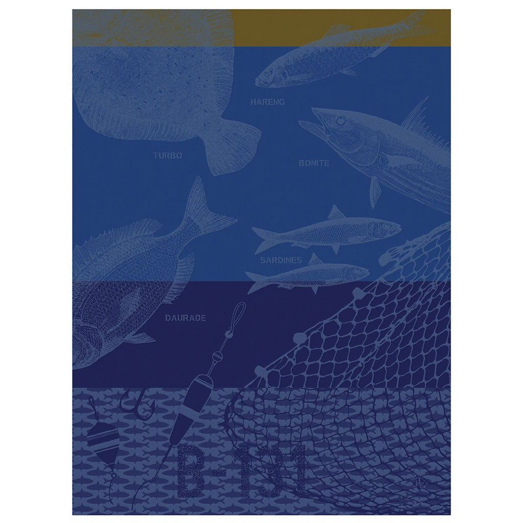 Peche En Mer Sailor Tea Towels by Le Jacquard Français | Fig Linens