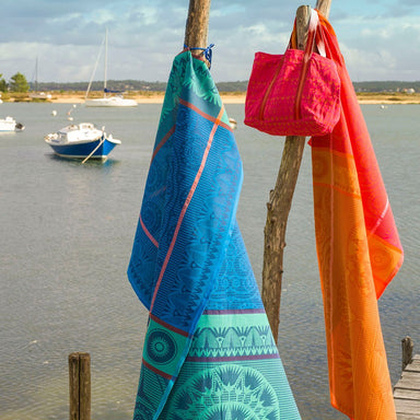 Holi Beach Towels and Bag by Le Jacquard Français | Fig Linens