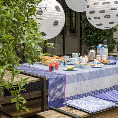 Fig Linens - Nature Urbaine Electric Outdoor Pillows and Tablecloths by Le Jacquard Français