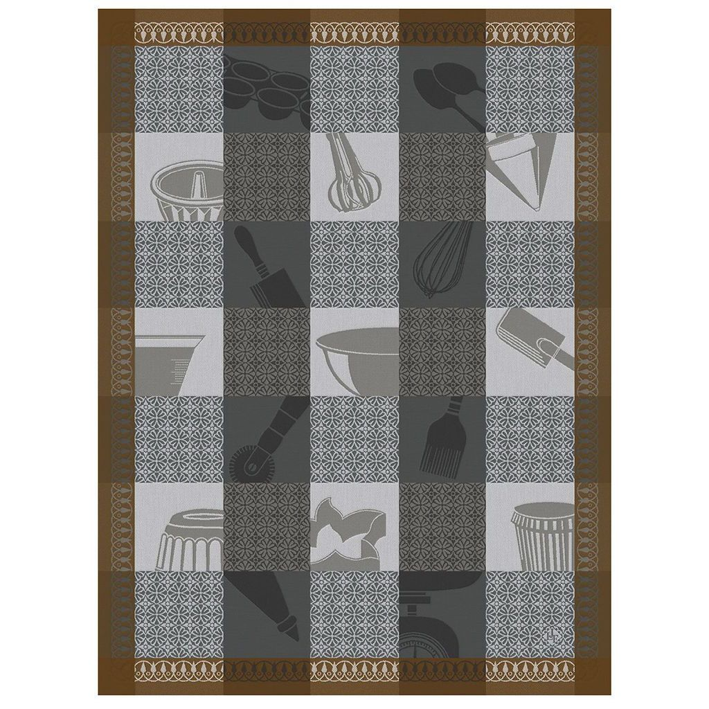 Equinox Chef Patissier Mosaique Tea Towels by Le Jacquard Français