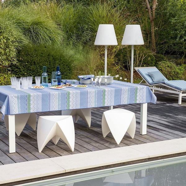 Color Rock Denim Table Linens by Le Jacquard Français | Fig Linens