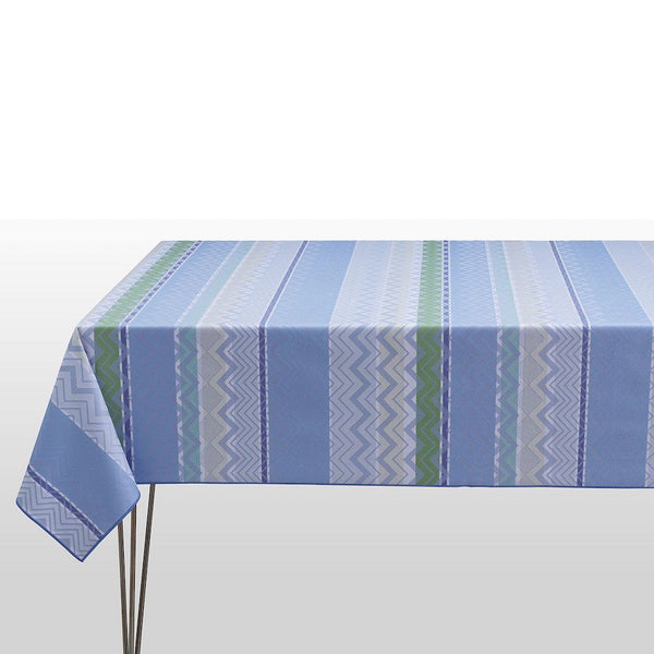 Fig Linens - Le Jacquard Francais - Color Rock Denim Tablecloth