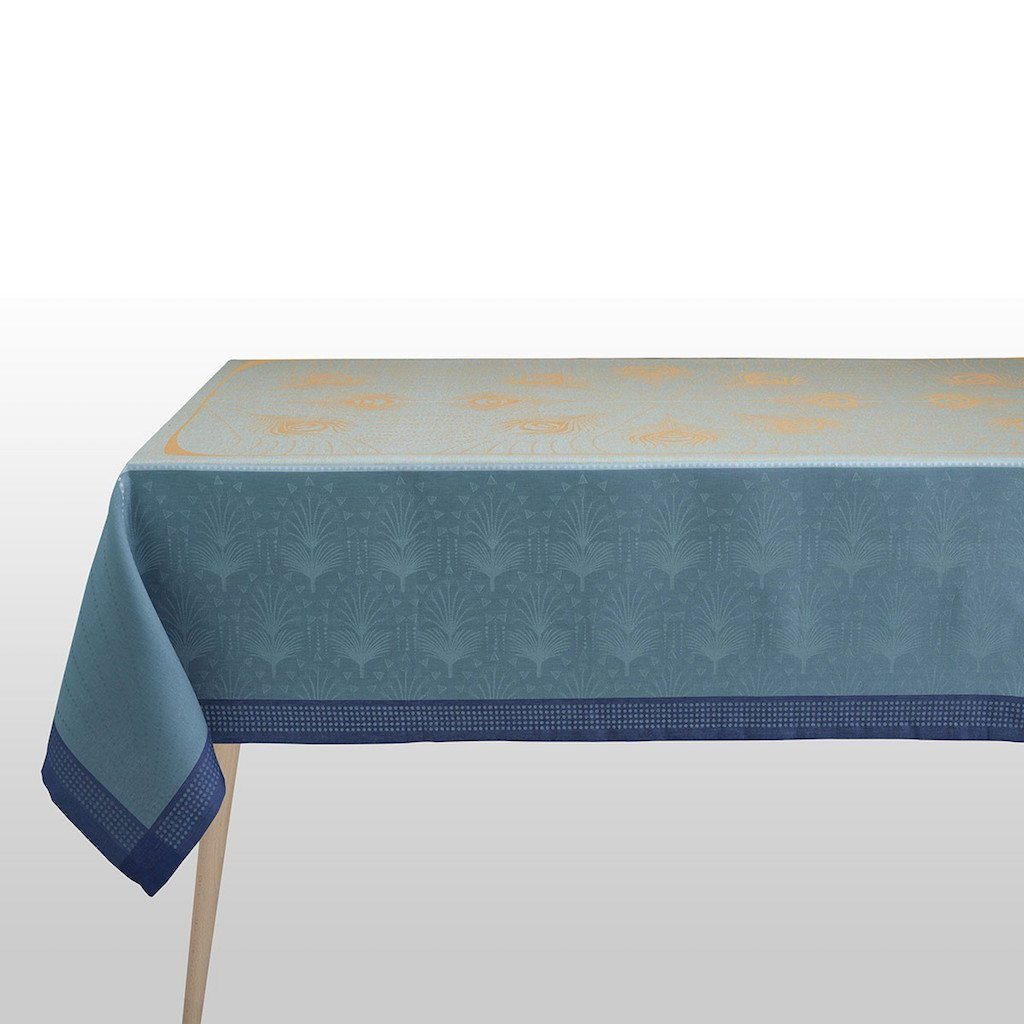Fig Linens - Le Jacquard Francais - Cabaret Peacock Tablecloth