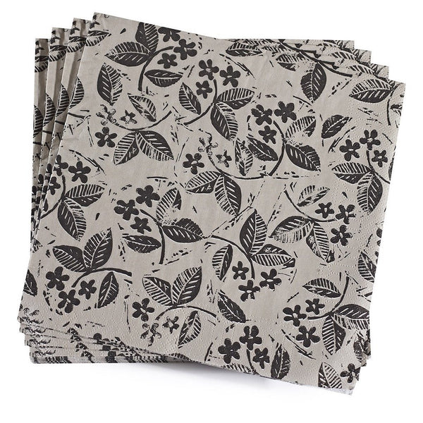Slow Life Mini Carbone Paper Napkins by Le Jacquard Français | Fig Linens