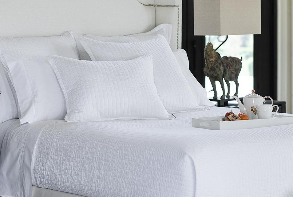 Tessa White Coverlet & Pillows by Lili Alessandra | Fig Linens