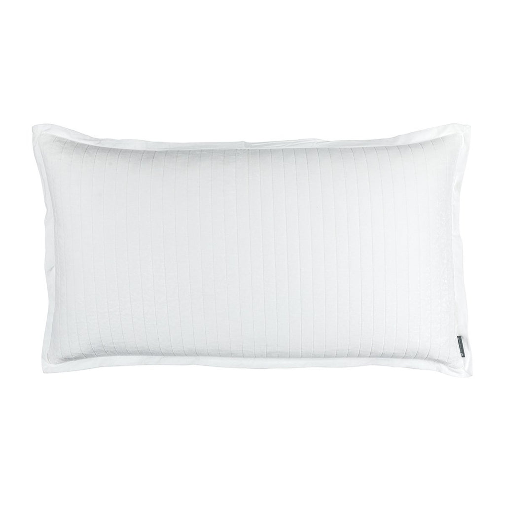 Fig Linens - Lili Alessandra Bedding - Aria White King Pillow