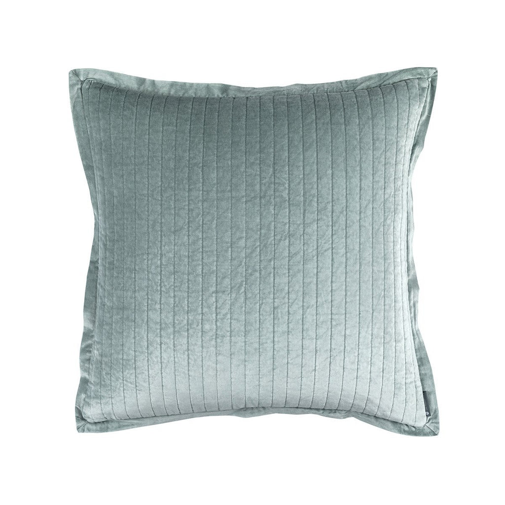Fig Linens - Lili Alessandra Bedding - Aria Sky Euro Pillow