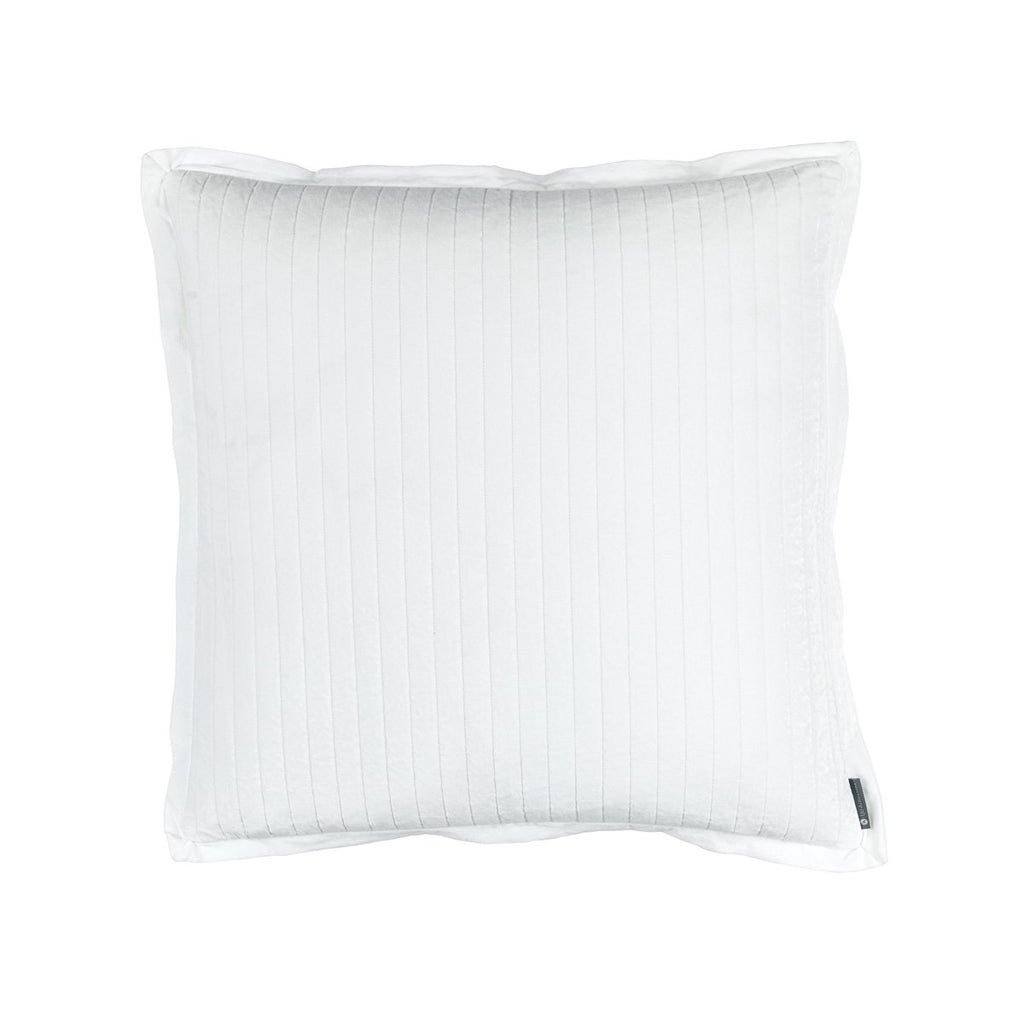 Fig Linens - Lili Alessandra Bedding - Aria White Euro Pillow