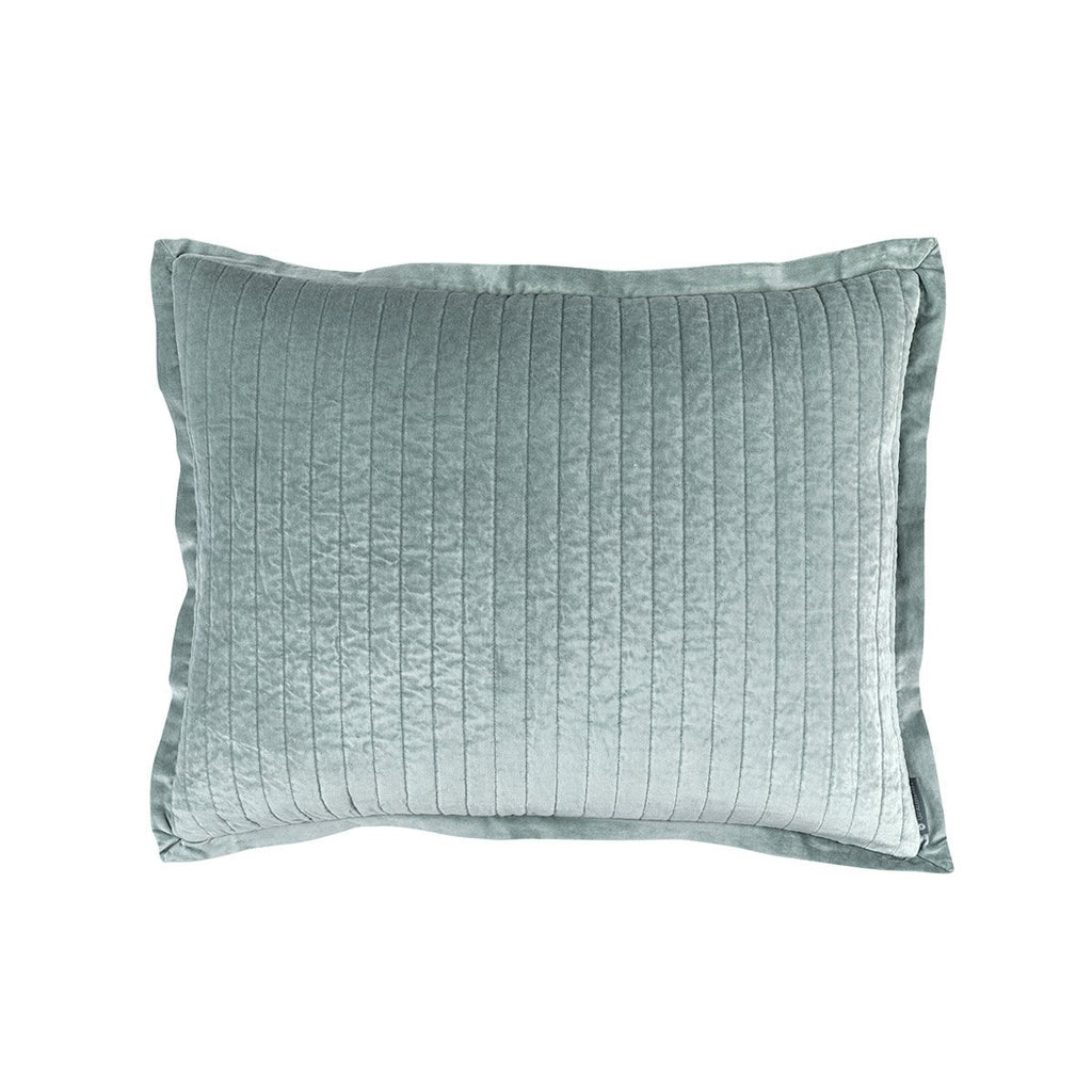 Fig Linens - Lili Alessandra Bedding - Aria Sky Standard Pillow