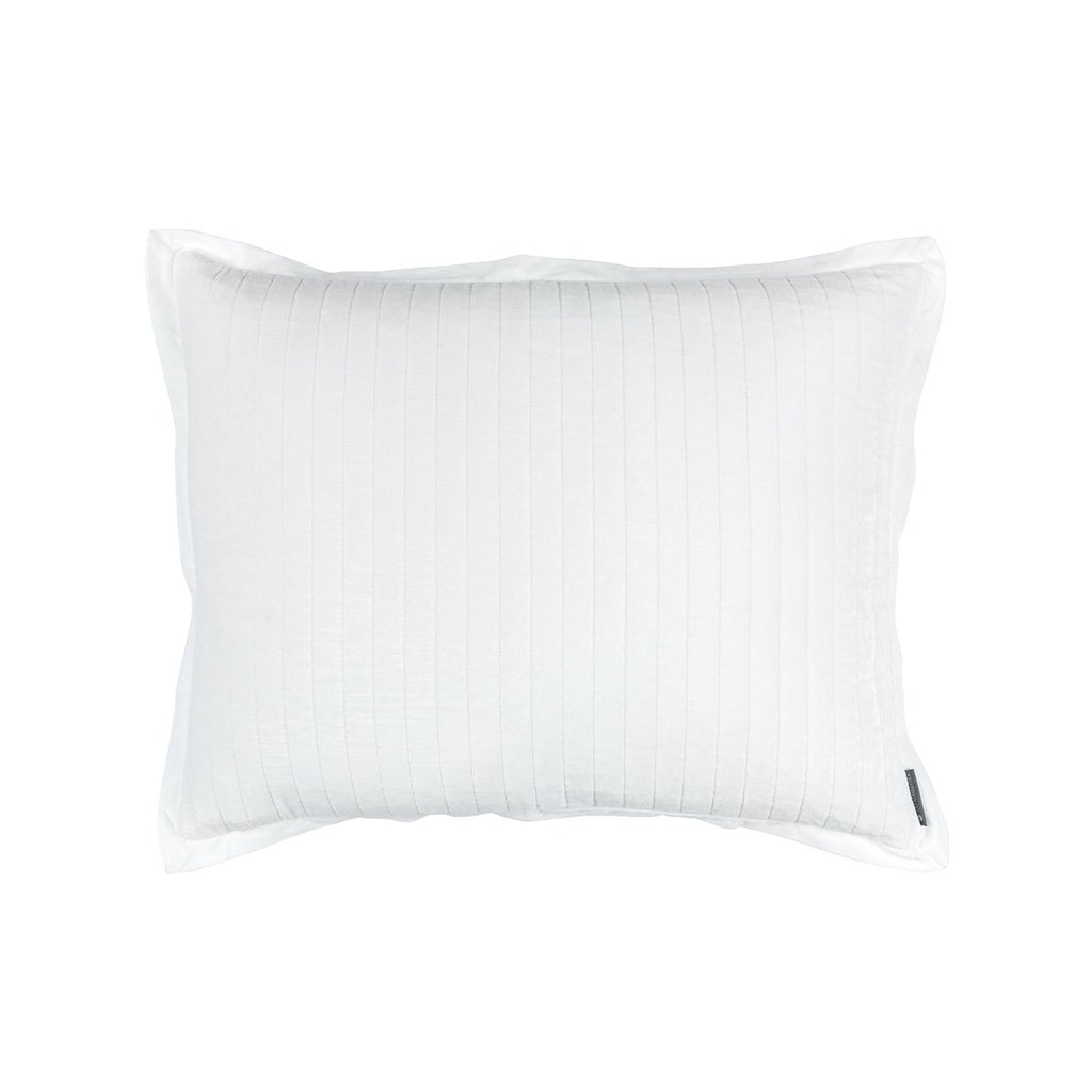 Fig Linens - Lili Alessandra Bedding - Aria White standard pillow