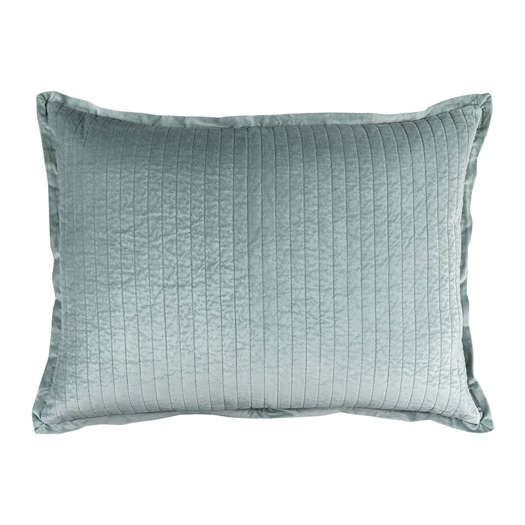 Fig Linens - Lili Alessandra Bedding - Aria Sky Luxe Euro Pillow