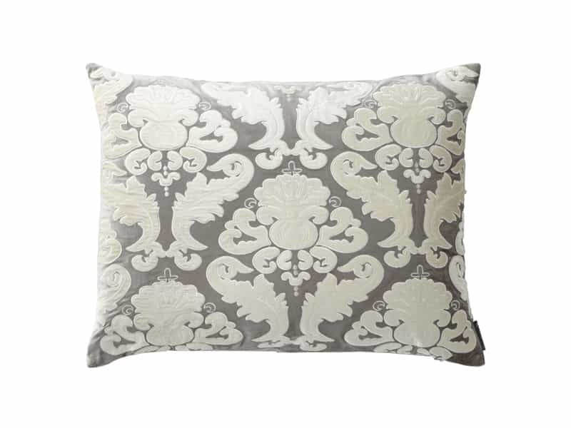 Fig Linens - Lili Alessandra Bedding -  Versailles Silver Velvet King Pillow