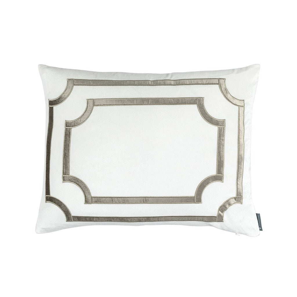 Fig Linens - Lili Alessandra Bedding - Soho Ivory and Fawn Velvet Standard Pillow