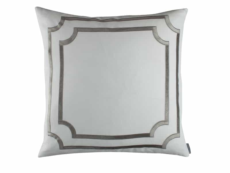 Fig Linens - Lili Alessandra Bedding - Soho Silver Euro Pillow