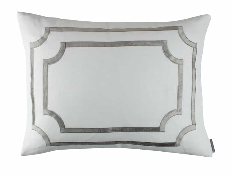 Fig Linens - Lili Alessandra Bedding - Soho Silver Standard Pillow