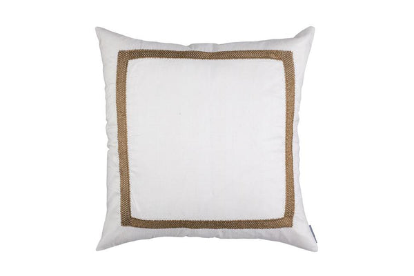 Caesar Ivory & Gold Square Pillow by Lili Alessandra | Fig Linens and Home