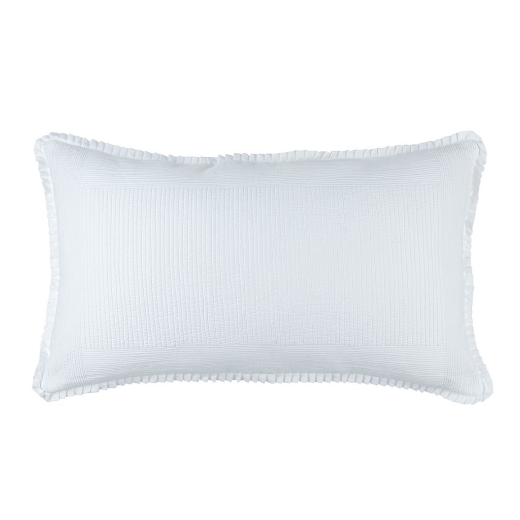 Fig Linens - Lili Alessandra Bedding - Battersea White Quilted Sham