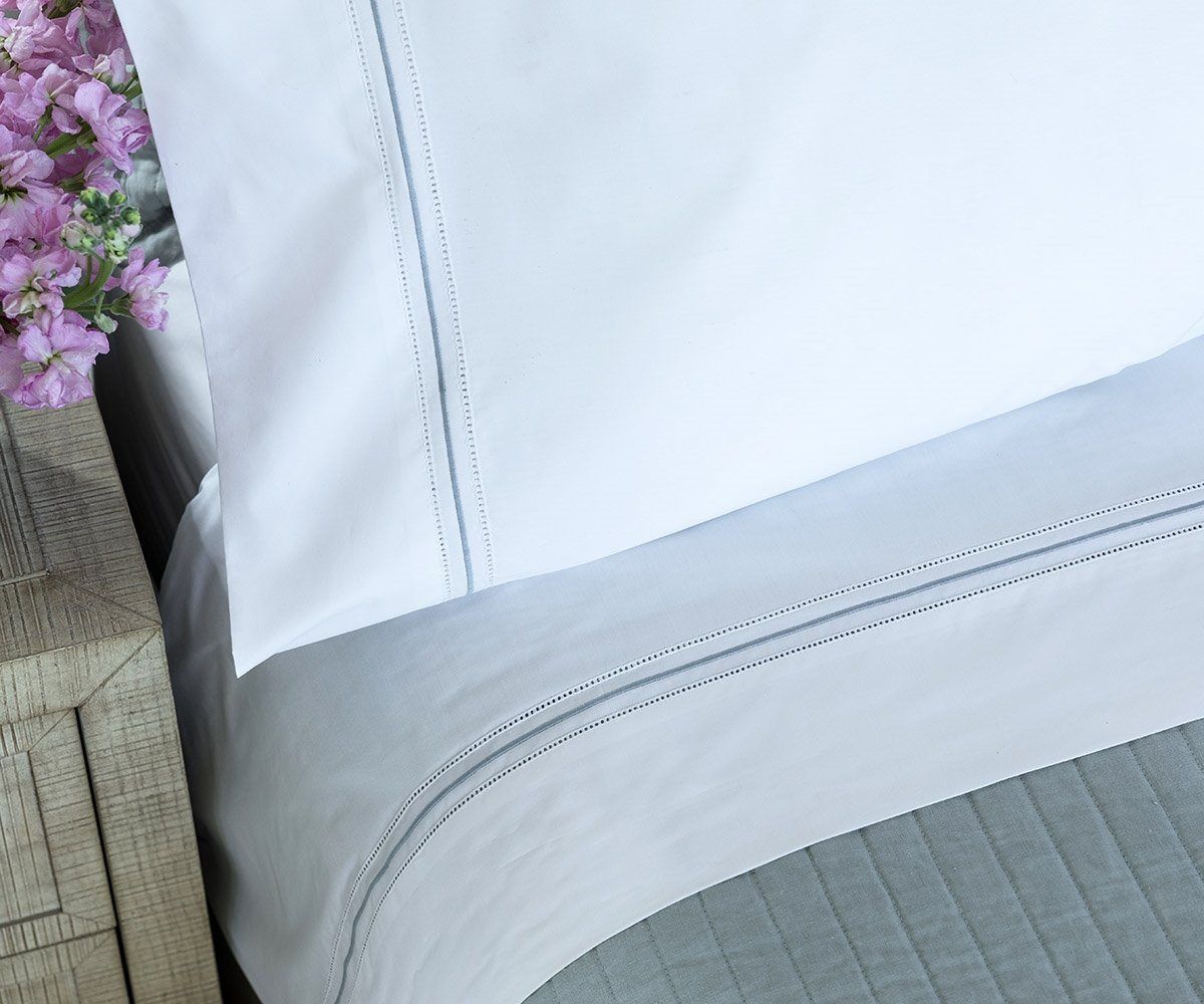Bella White with Spa Sheet Set by Lili Alessandra