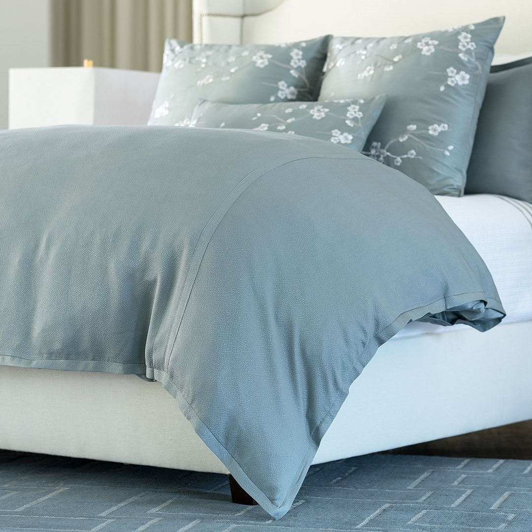 Gia Blue Cotton Silk Bedding By Lili Alessandra Fig Linens And Home