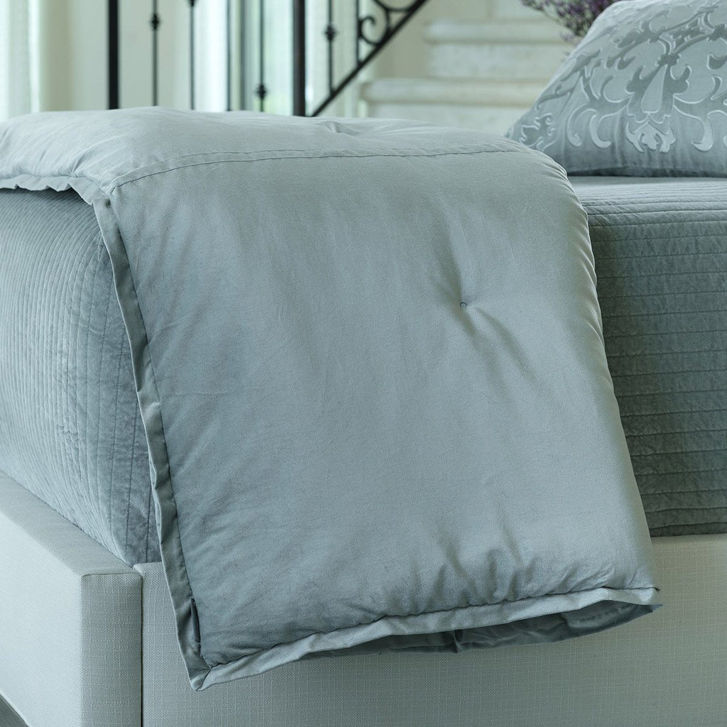 Fig Linens - Lili Alessandra Bedding - Aria Sky Throw