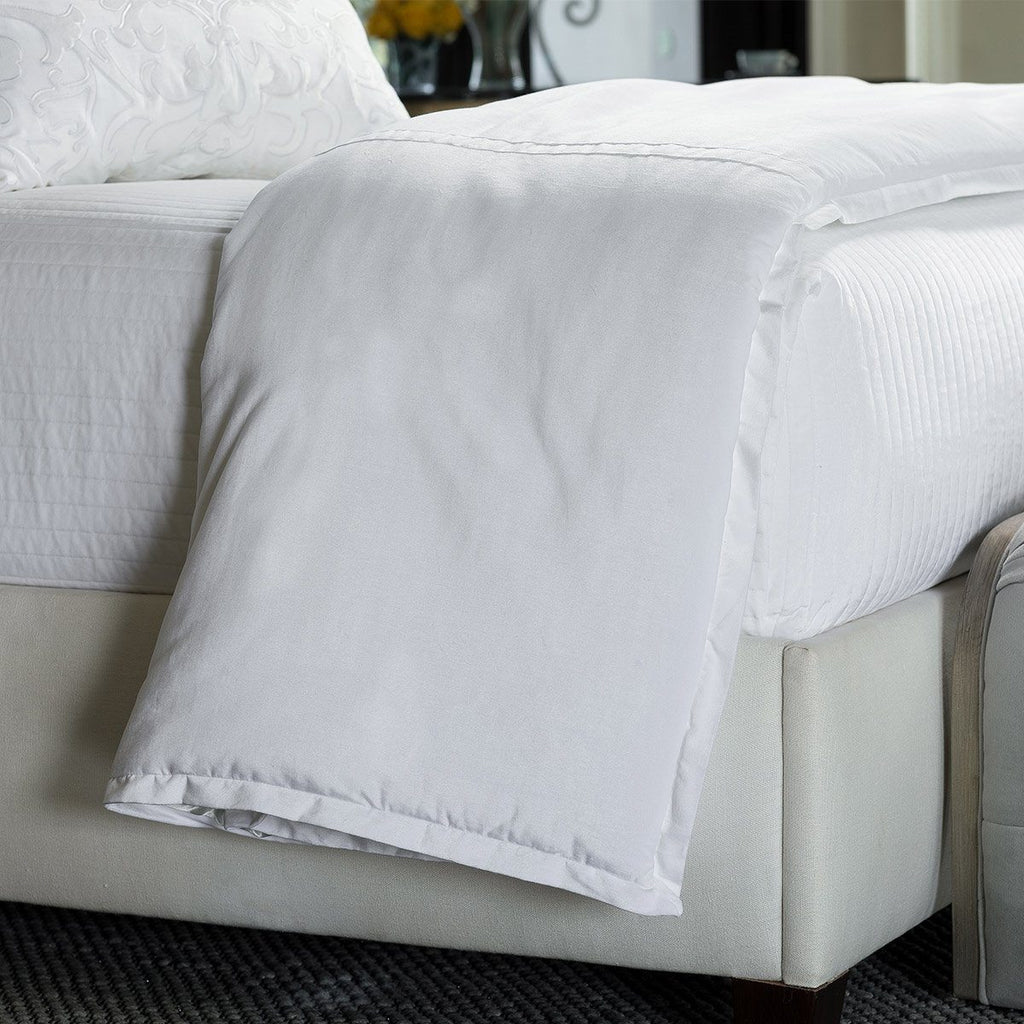 Fig Linens - Lili Alessandra Bedding - Aria White Throw