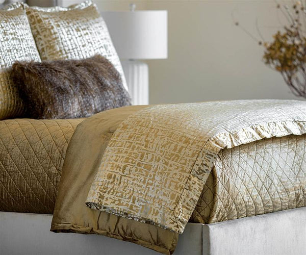 Fig Linens - Lili Alessandra Bedding - Jolie Straw Quilted Throw