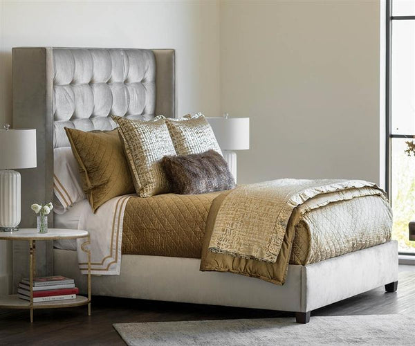 Jolie Straw Quilted Throw & Pillows by Lili Alessandra | Fig Linens