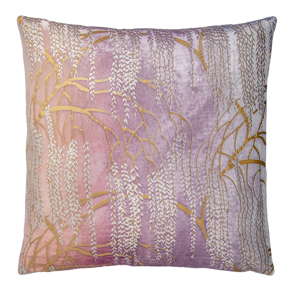 Opal Willow Metallic Pillow by Kevin O'Brien Studio | Fig Linens