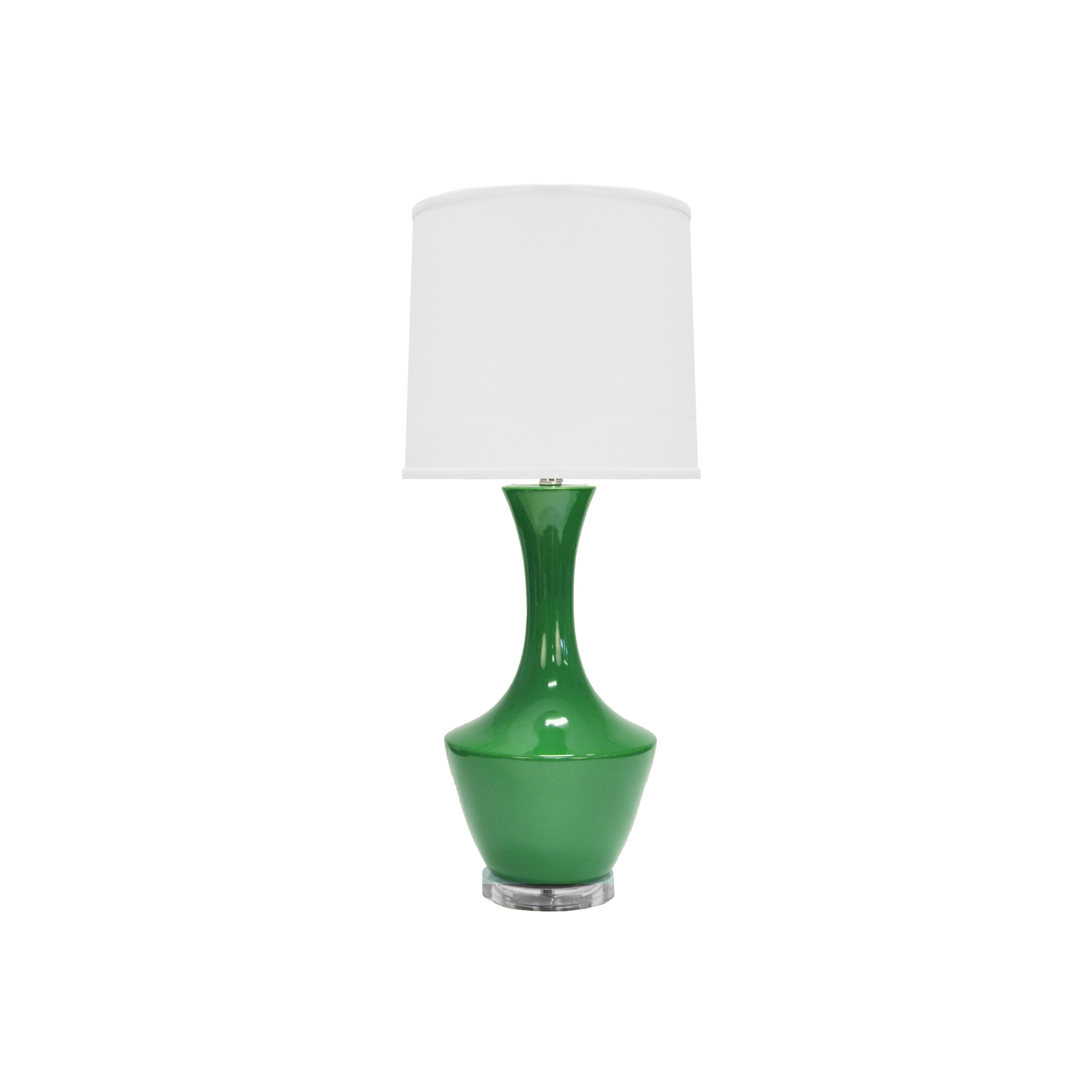 Bridget Green Ceramic Table Lamp by Worlds Away