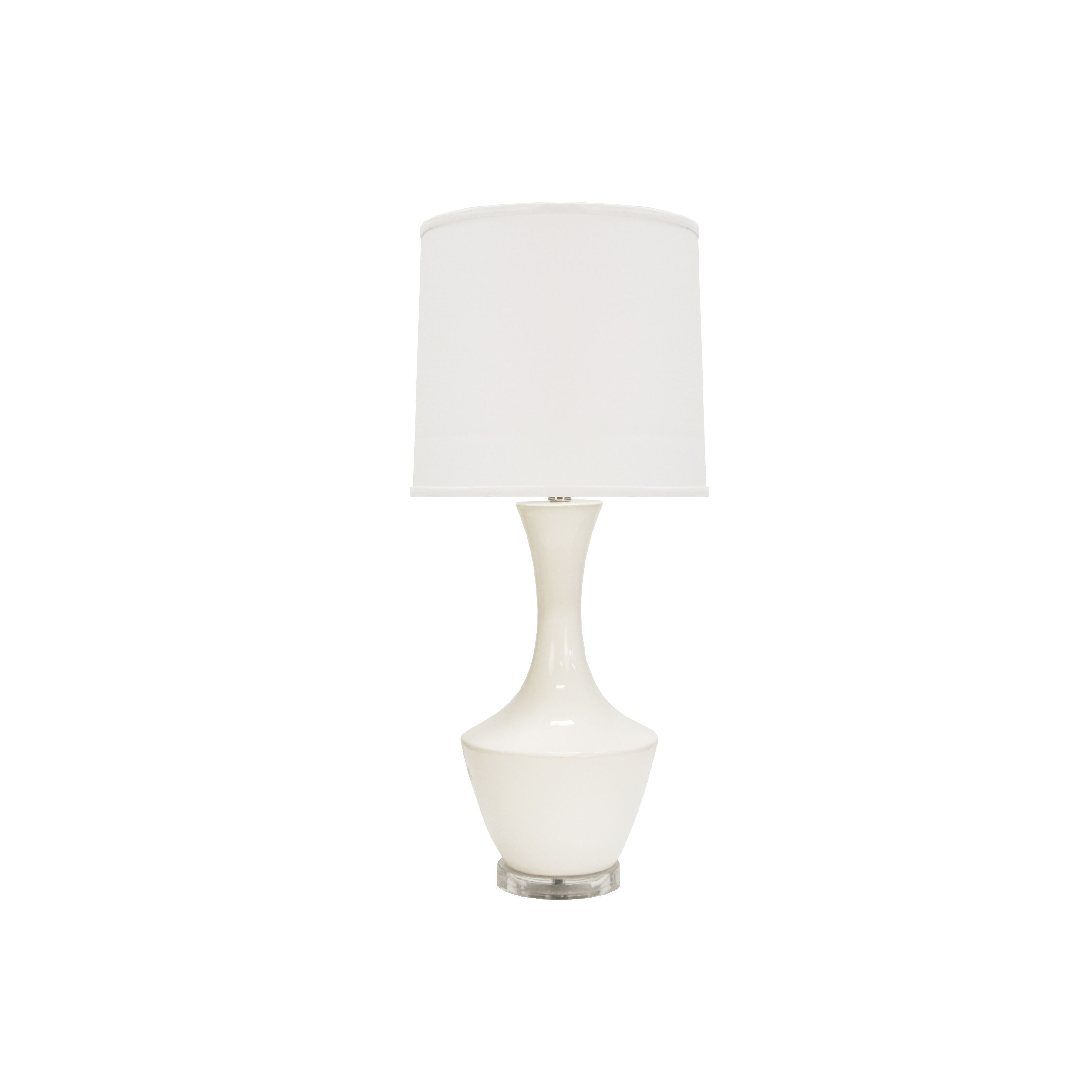 Bridget White Ceramic Table Lamp by Worlds Away | Fig Linens