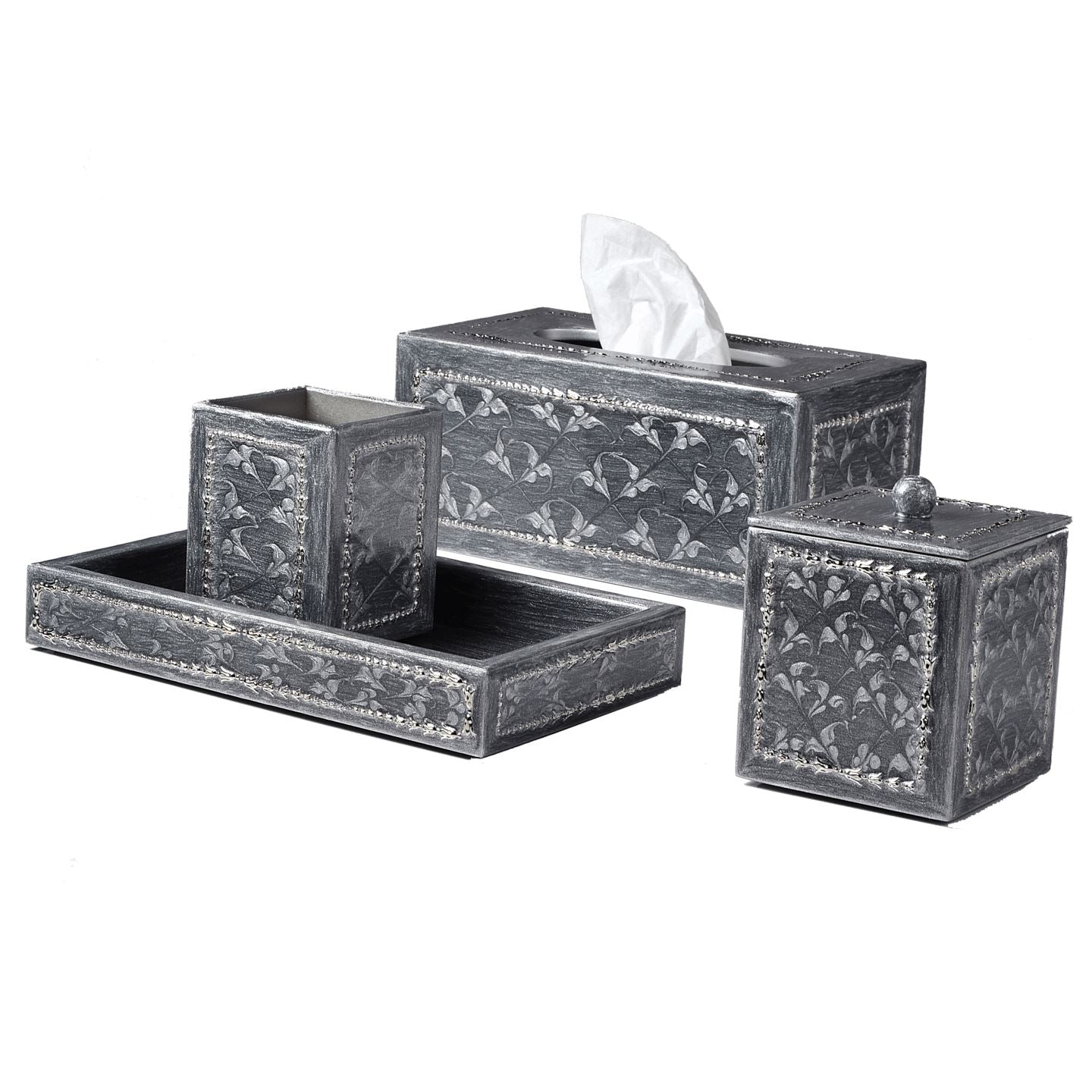 Fiona Platinum Bath Accessories by Mike + Ally