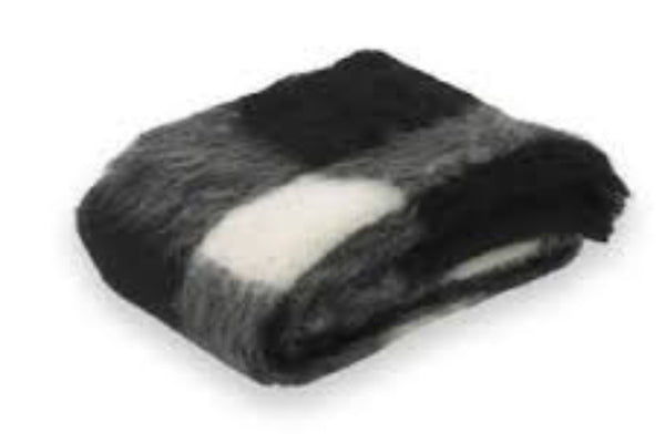 Brushed Alpaca Throw Friesian Plaid by Lands Downunder