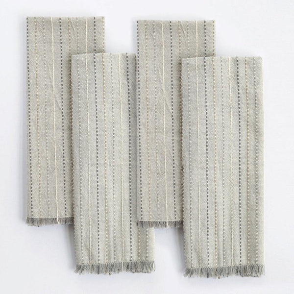 Fringe Stripe Organic Cotton Napkins by Coyuchi | Fig Linens