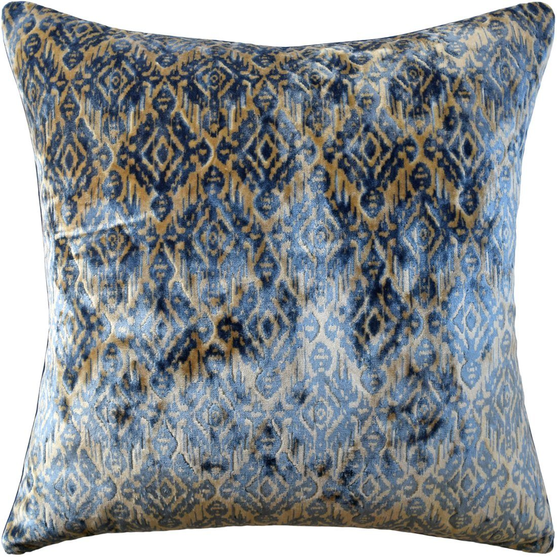 Fuego Blue Decorative Pillow at Fig Linens