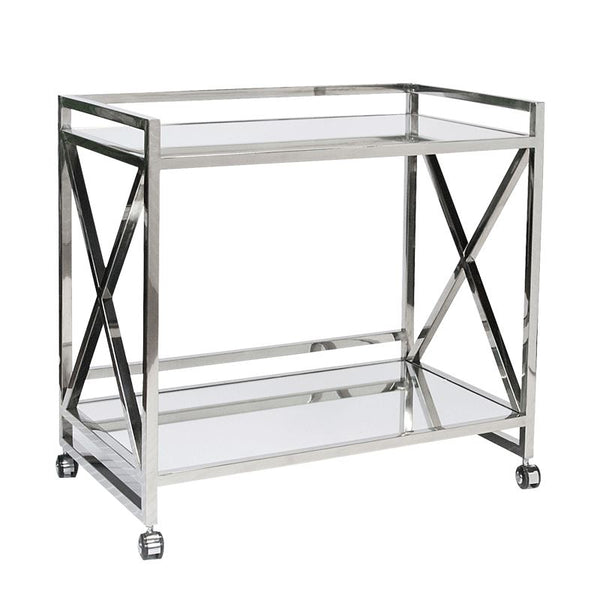 Gerard Silver Bar Cart | Fig Linens and Home