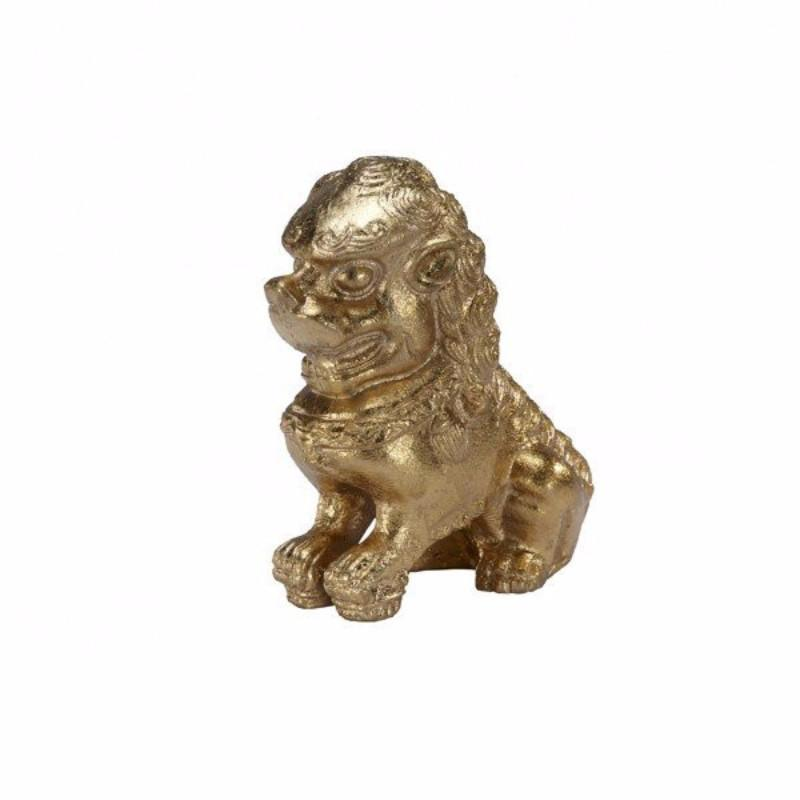 Foo Dog Gold Bookends - Worlds Away - Fig Linens