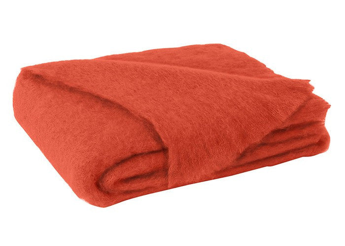 Brushed Mohair Throw Hibiscus by Lands Downunder