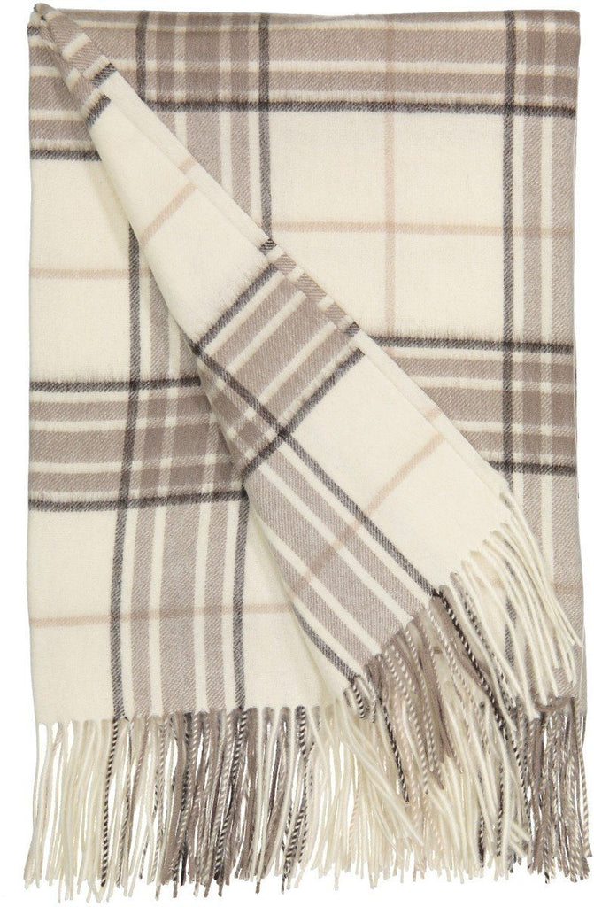 Rocky Mountain Plaid Throw in White - Alashan at Fig Linens