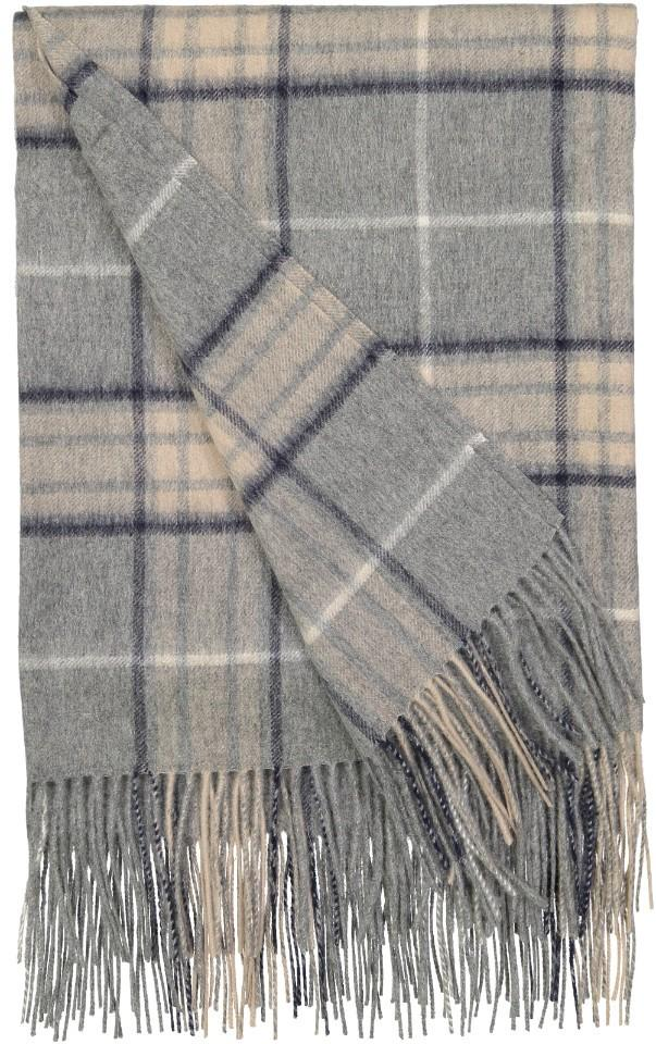 Rocky Mountain Plaid Throw in Ash - Alashan at Fig Linens